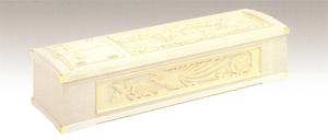 桐柾貼三面鳳凰彫刻